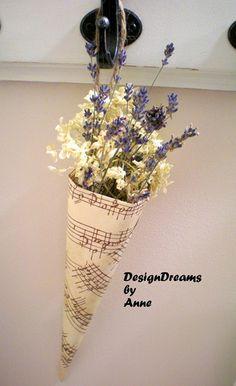 Music Sheet Cone Vase