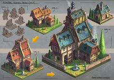 Isometric Villa Design by JonathanDufresne on DeviantArt