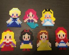 Disney Princess hama beads by jason_teng