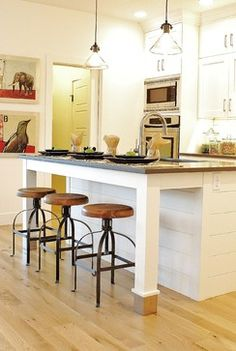 White & Gray Modern Farmhouse Kitchen - farmhouse - Kitchen - Boise - Judith Balis Interiors