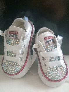 d14fc554429 Girls Custom Crystal 3 4 Tongue  Bling  Converse - Infant Sizes 2-10.  Various Options Available.