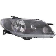 2002-2003 Mazda Protege5 Head Light RH, Lens And Housing, Metal Coat Bezel