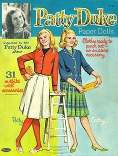 Patty Duke and Cousin Cathy paper dolls 1964 :: Bobe Green - Picasa Web Albums