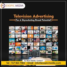 Get noticed by millions and increase your business prospects, through interactive TV advertising! Get in touch with the top TV Advertising services agency in India today. Call us: 7678237402 #televisionadvertising #skyrocket #brandpotential #tvads #tvadvertising #tvadvertisements #ExopicMedia #tvcommercials #increase #businessprospects #branding #marketingagency #advertisingagency #tvadvertisingservices #tvadvertisingservicesagency