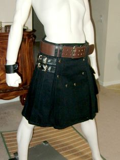 Black Denim with Leather Kilt from The Twisted Bear for $199 (see website for other color options)