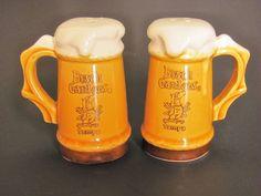 Busch Gardens Beer Mugs Steins Tampa FL Ceramic Salt Pepper Shakers Made Japan