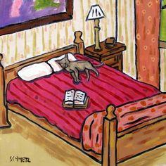 Burmese Cat Taking a Nap Dog Art Tile Coaster by lulunjay on Etsy, $12.49