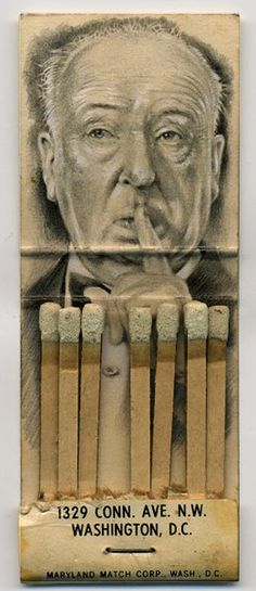 Jason D'Aquino is a miniaturist. He creates his artwork on an incredibly small scale, many works not exceeding one inch by one inch in dimension. D'Aquino chooses to work on found surfaces such as strike-on-front matchbooks,