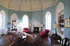 The two bright octagonal rooms at the top of the four storey tower are flooded with daylight and contain a rich mix of Gothic and Classical carving and plasterwork. This is a romantic Landmark on the edge of the Yorkshire Dales National Park.
