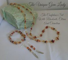 Hand Made Ooak Jewellery Necklace Earrings & by TheUniqueGemLady