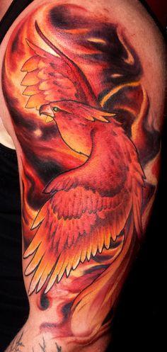 Fiery Phoenix Tattoo by DanielPokorny on DeviantArt