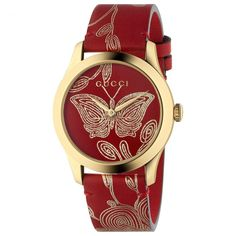 Redirecting you to Neiman Marcus for Gucci G-Timeless Embroidered Butterfly Watch w/ Leather Strap. Gucci Watches For Men, Stylish Watches, Fashion Watches, Women's Watches, Jewelry Watches, Leather Watches, Analog Watches, Ladies Watches, Watches Online