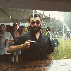 A little rain is not gonna get in the way of cider drinking. #loveourfans #MIcider #drinkmichigan #Marquette #Forestville2016