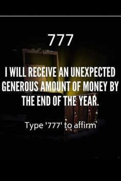 Angel Number 777 Meaning and Affirmation, Wealth Affirmations, Law Of Attraction Affirmations, Law Of Attraction Quotes, Positive Affirmations, Positive Quotes, Astrology Meaning, Growth Mindset Quotes, Spiritual Manifestation, Switch Words