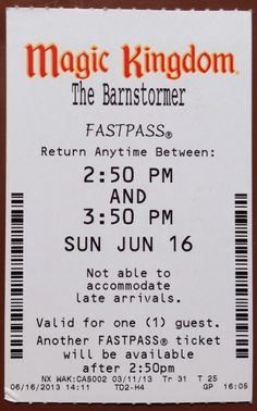 FASTPASS and FastPass+ - a guide   from touringplans.com  