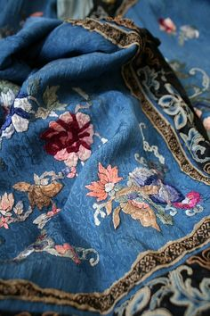 Chinese Embroidery Oh this color of blue!