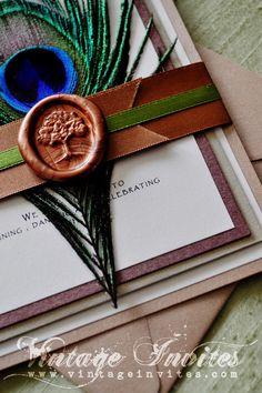 The Mary Autumn Tree Wedding Invitation....absolutely love the tree seal