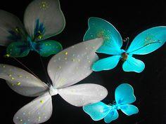 Jak wykonać bajeczne motylki ze starych rajstopek - Pomysły plastyczne d...