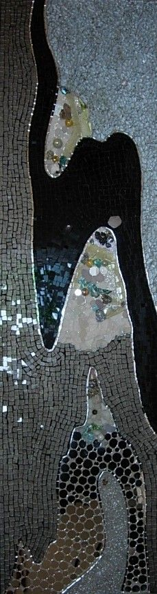 Abysse, abstract mosaic...love it!! By @Marie-Laure BOURBON Mosaic Diy, Mosaic Crafts, Mosaic Projects, Mosaic Wall, Mosaic Glass, Mosaic Tiles, Stained Glass, Glass Art, Art Projects