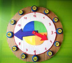 Reloj para aprender las Horas | Los Inventos de Mamá Science Activities For Kids, Montessori Activities, Math For Kids, Kindergarten Activities, Infant Activities, Classroom Activities, Summer Crafts For Kids, Craft Projects For Kids, Learning Clock