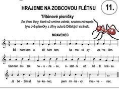 Výsledek obrázku pro zobcová flétna noty pro děti Sheet Music, Preschool, Education, Kid Garden, Kindergarten, Onderwijs, Learning, Music Sheets, Preschools