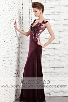 - Velvet, illusion - Back zipper - Imported - Between to from shoulder to hem Please choose your size based on our size chart. Dresses in this collection are mostly in stock and ready to b Formal Evening Dresses, Prom Dresses, Take The Fall, Magenta, Purple, Gorgeous Dress, Black Tie, Illusion, Type 3