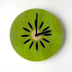 CUTE KIWI CLOCK! Objectify Fruity Wall Clocks by ObjectifyHomeware on Etsy, $24.00