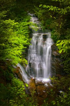 Soco Falls ~ Between the towns of Maggie Valley and Cherokee in North Carolina*