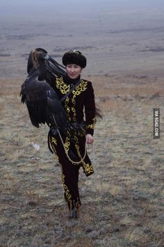 25 year-old Makpal Abdrazakova, the only female golden eagle hunter in the world.
