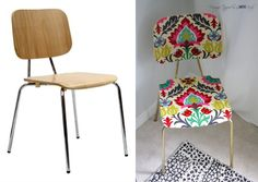 67 Furniture Makeovers That'll Totally Inspire You: Chair makeover via All Things Thrifty