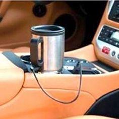 Thermos Tasse pour Voiture 12V Tasse thermique en acier inoxydable et anse en plastique. Cette tasse dispose d'un couvercle en plastique, une fermeture à pression hermétique et une ouverture avec un couvercle coulant dans la partie supérieure. C'est idéale pour porter dans n'importe quelle voiture, étant donné qu'elle dispose d'une connexion à 12 V pour la brancher au briquet de la voiture.