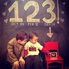 Our baby #3 pregnancy announcement :)   big brothers, three kids, siblings announcement