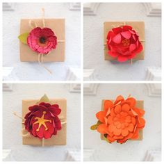 Creative Gift Topper Paper Flower Autumn by ToHaveandToHolder