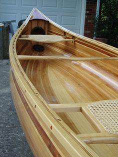 Wood Canoe, Canoe Boat, Bass Boat, Canoe Trip, Canoe And Kayak, Whitewater Kayaking, Canoeing, Canoe Plans, Classic Wooden Boats