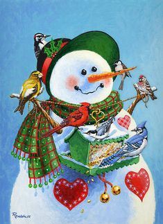 snowmen are great love then they are so cute...