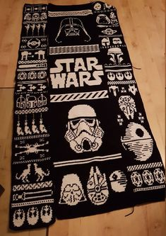 Ill make any Blanket. Any Motive is possible. Double Knitting Patterns, Knitting Charts, Star Wars, Monat, Nerdy, Needlework, Cross Stitch, Darth Vader, Diy Crafts