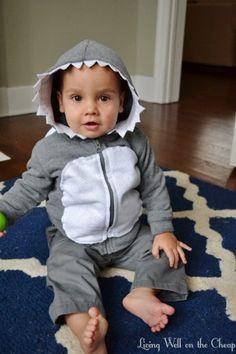 easy and inexpensive diy shark costume living well on the cheap shark kidscostume