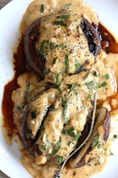 Grilled Portobello Mushrooms with Garlic Sauce Grilled. Grilled Portobello Mushrooms with Garlic Sauce Grilled Portobello Mushrooms with Garlic Sauce Mexican Food Recipes, Whole Food Recipes, Vegetarian Recipes, Healthy Recipes, Vegan Meals, Vegetarian Meal Planning, Diabetic Meals, Bariatric Recipes, Paleo Vegan