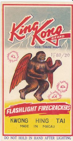 King Kong Firecracker Brick Label by Mr Brick Label, via Flickr