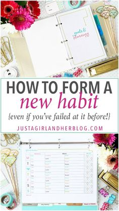 Love this post about developing new habits! Her strategy makes so much sense-- I may actually be able to form those new habits using her steps! Click through to the post to read more!