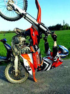 Bavette ktm sx 125 moto cross bitume #bavette #cross #bitume
