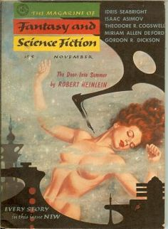 The Magazine of Fantasy and Science Fiction December 1956 - cover by Kelly Freas
