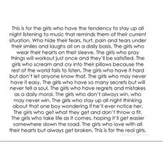 This is for the girls