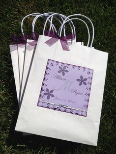 Treat your guests with Thank You bags filled with goodies and wedding weekend necessities.  www.lovelydaystocherish.com