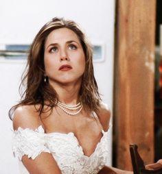 Rachel Green as a runaway bride