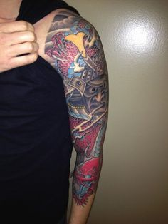 697fde91c Check out this angry-looking tattoo sleeve. #TattooModels #tattoo Lotus  Flower Tattoo