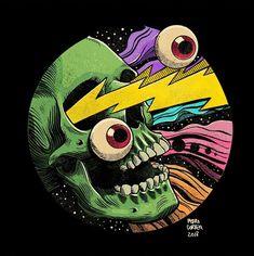 Cool illustrations by Pedro Correa, a versatile freelance artist from Brazil. You can buy his prints here. More illustrations via Behance Psychedelic Art, Illustrations, Illustration Art, Poster S, Wow Art, Pulp Art, Grafik Design, Vinyl Art, Dark Art