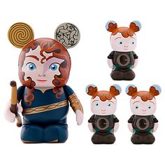Merida & Triplets Vinylmation Set