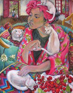 Nadia & the Cats by Nerida de Jong
