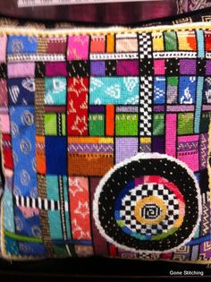 Mindy Needlepoint Pillow 2 by Gone Stitching1, via Flickr